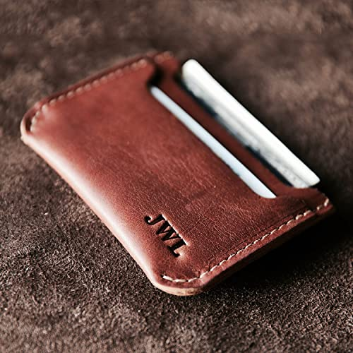 234b87986600f Amazon.com  The Bradford Front Pocket Double Sleeve Fine Leather Wallet   Handmade