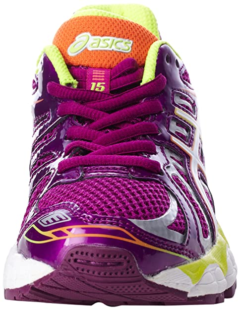 brand new 89593 c6af7 Amazon.com   ASICS Gel Nimbus 15 GS Running Shoe, Wine White Flash Yellow,  6 M US Big Kid   Running