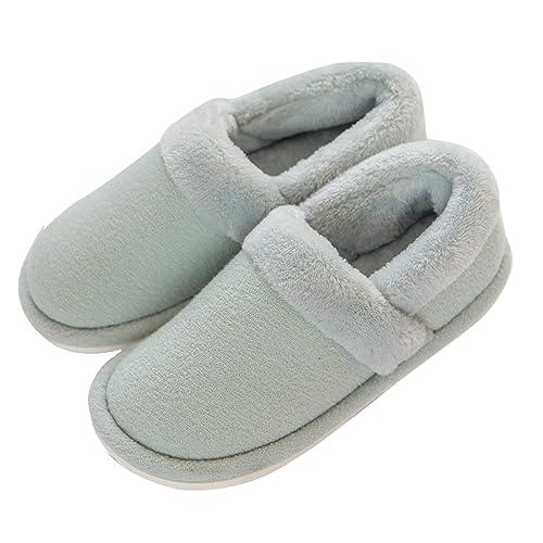 26bdef091e41d mianshe Women s Fuzzy Bootie Slipper Anti-Slip Indoor Shoes Men s Clog  Winter Cotton House Slippers