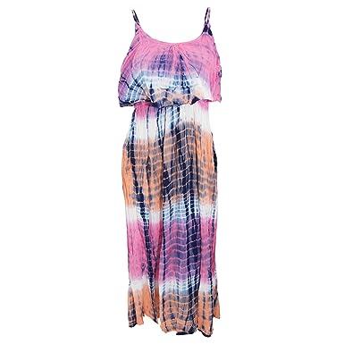 7a873b6c8825ab Universal Textiles Damen Maxi-Kleid mit Batik-Muster: Amazon.de: Bekleidung