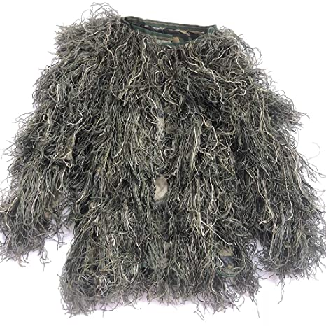 ebe7b5ea36dae Didaoffle Ghillie Suit Camo Suit Woodland and Forest Design Military Leaf  Hunting and Shooting Accessories Camouflage
