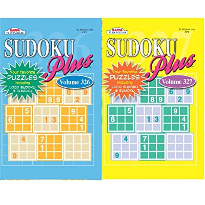 KAPPA Sudoku Puzzles Book (2 Volumes/Books) Digest Size: Toys & Games