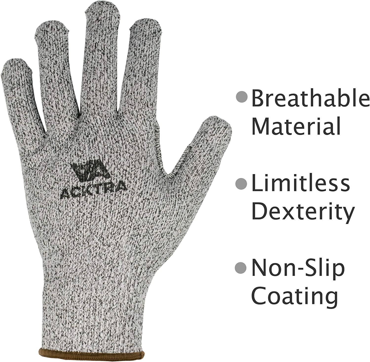 for Men and Women Small EN 388 PPE Regulation 2016//425 ACKTRA WG014 Level 5 Cut Resistant Construction Safety WORK GLOVES 12 pairs Eco Latex Coated High Tear Resistance