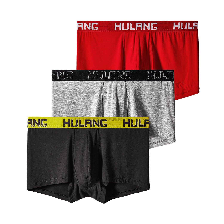 HULANG UNDERWEAR メンズ B0734P41G2 US XX-Large|Red+black+grey Red+black+grey US XX-Large