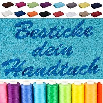 Hervorragend Amazon.de: Besticken Sie Handtuch mit Namen oder mit Wunschtext ZU21