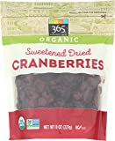 365 Everyday Value, Organic Cranberries, Sweetened Dried, 8 oz