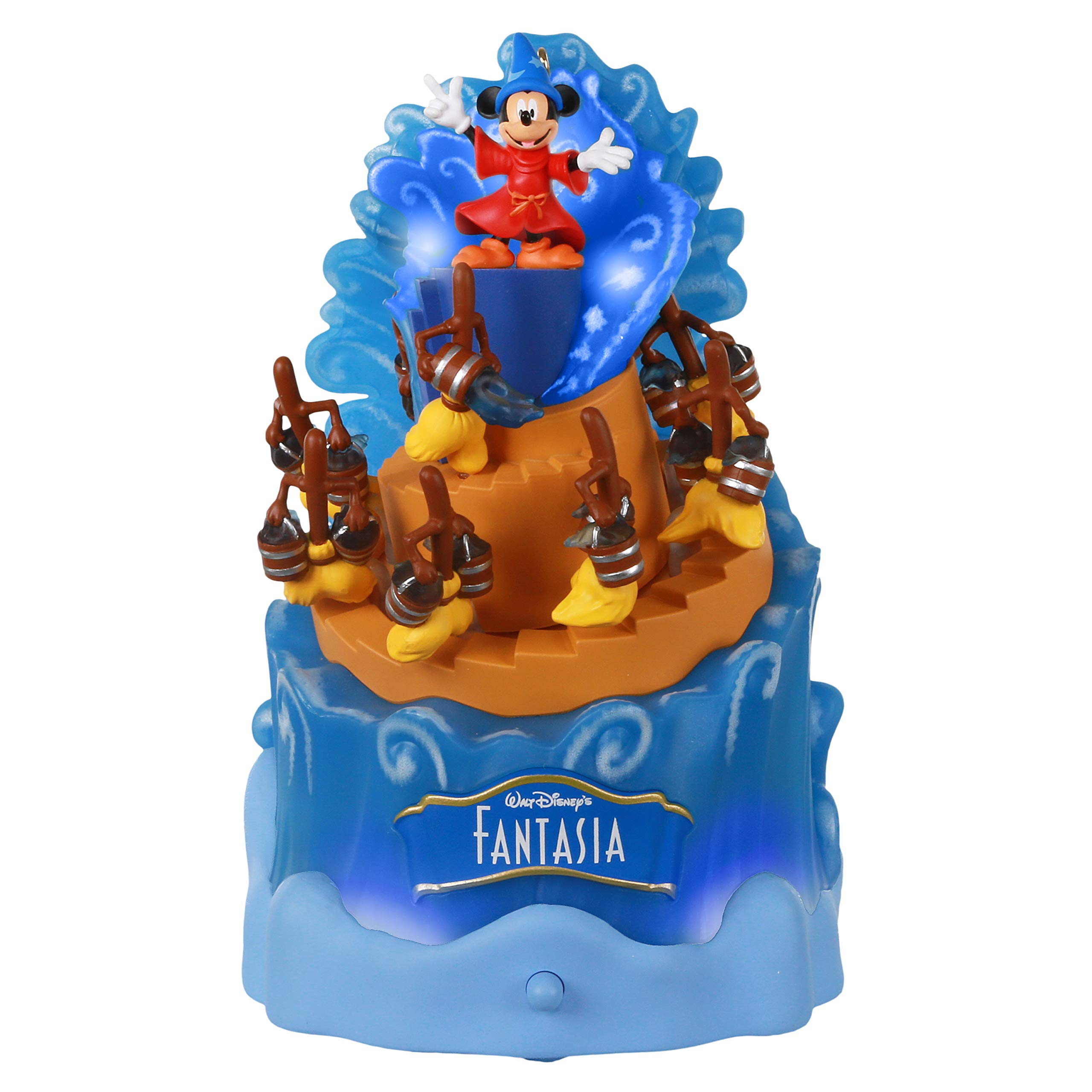 Hallmark Keepsake Christmas Ornament 2020, Disney Fantasia 80th Anniversary, Sorcerer Mickey Mouse, Musical With Light and Motion