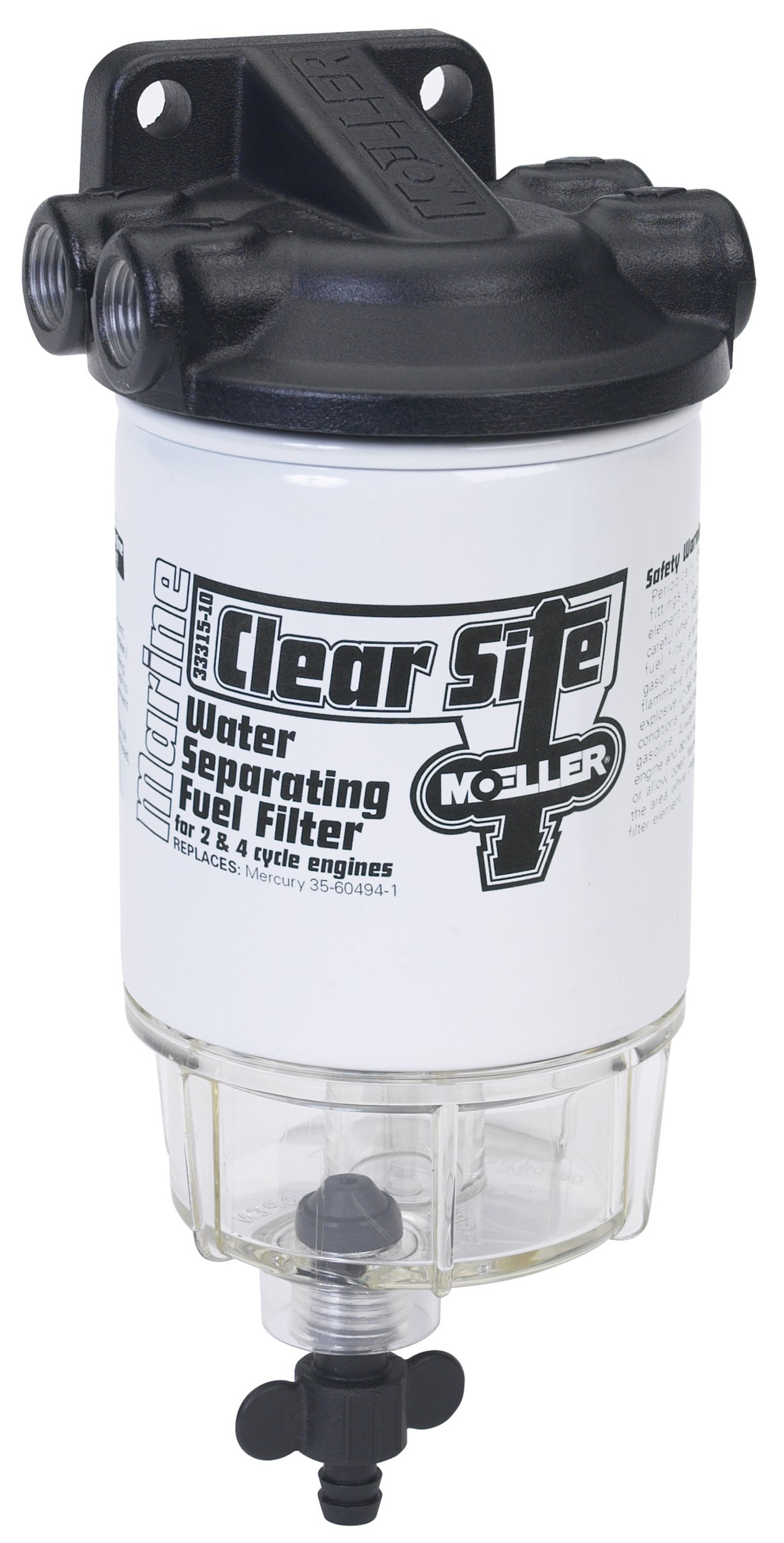 Moeller Clear Site Water Separating Fuel Filter System (3/8'' NPT, Aluminum)