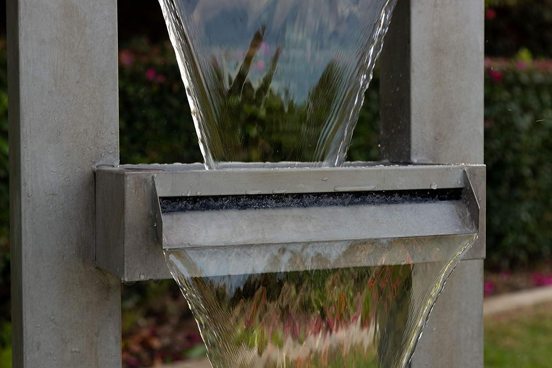42 Tall Multi Alpine CPS182 Metal Tiered Waterfall Fountain