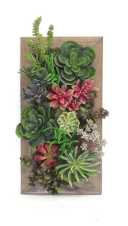 Dalmarko Designs Succulent Garden Wall Tile Décor, Green