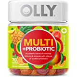 OLLY Multi + Probiotic Adult Multivitamin Gummy, 35 Day Supply (70 Gummies), Tropical Twist, 1 Billion CFUs, Digestive and Im
