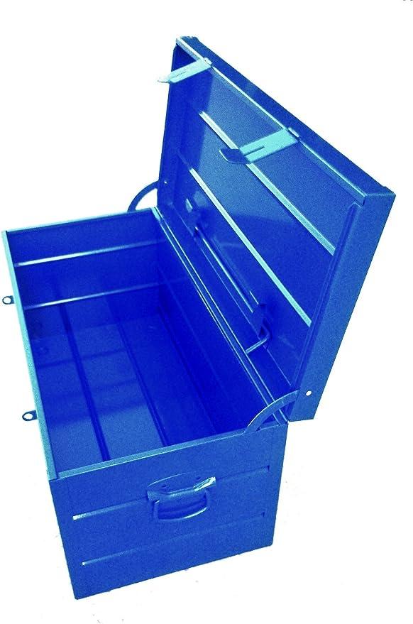 Arcón Metálico Industrial Extra Grande - 685x330x330 mm - Azul Eléctrico: Amazon.es: Bricolaje y herramientas