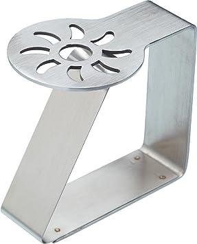Kitchen Craft - Pinzas para sujetar manteles (4 unidades, acero inoxidable), diseño de sol: Amazon.es: Hogar