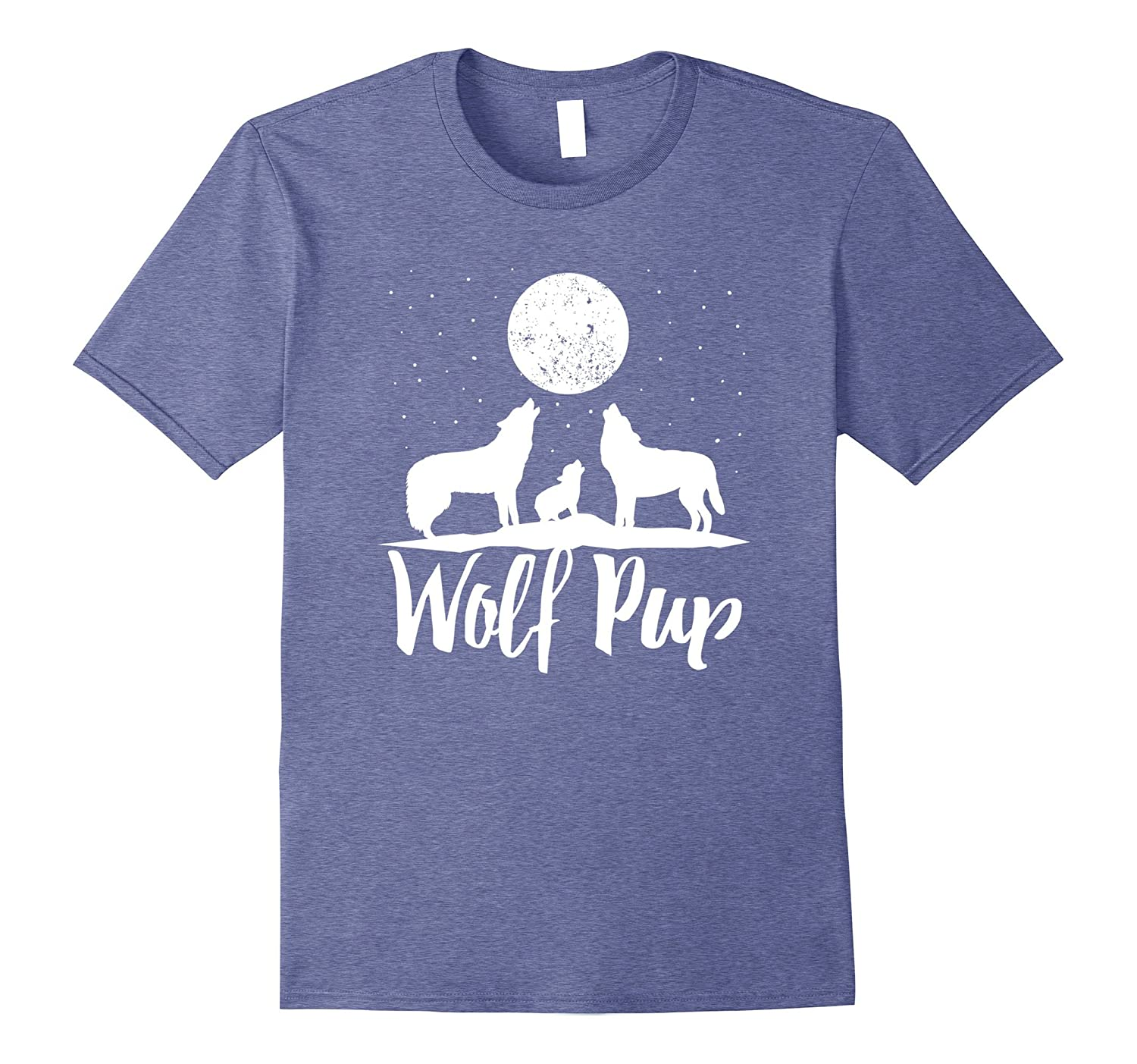 Wolf Pup Shirt Mama Papa Forest Wolf Pack Family of Wolves-TH