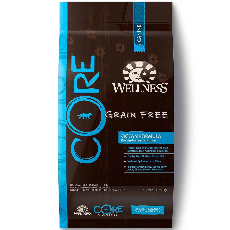 Wellness Core Natural Grain Free Dry Dog Food Ocean Whitefish, Herring Salmon
