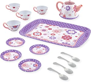 Just Like Home Tin Tea Set