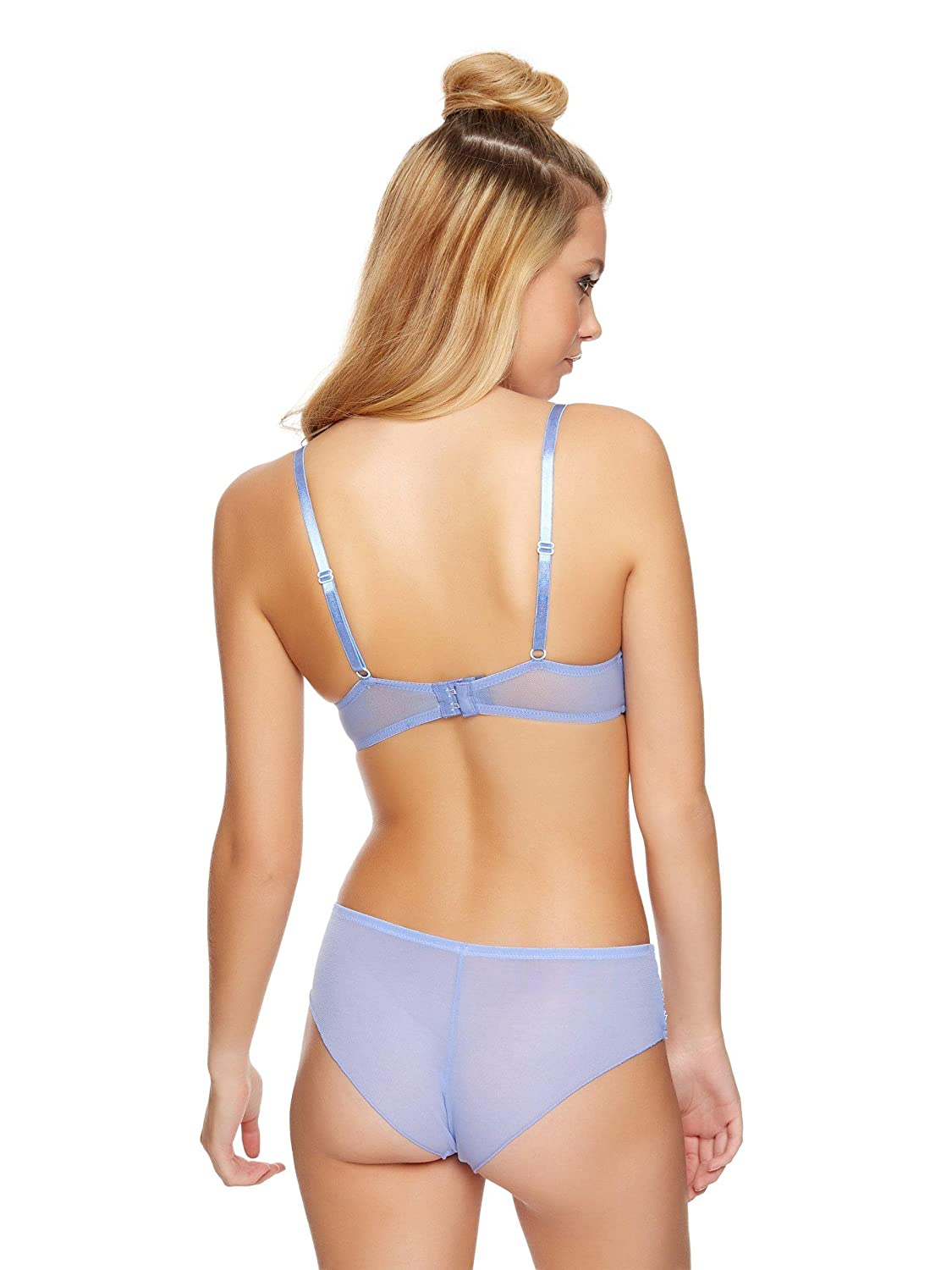 Ann Summers Womens Knickerbox Lanie Plunge Bra Blue Lace Sexy Lingerie  Underwear Bluebell Pale Blue 32A  Amazon.co.uk  Clothing 9eeada19e