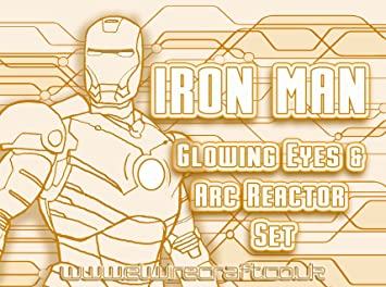 Iron Man Light Up Augen & Arc Reactor Kit – Weiß – El Draht-Kit ...