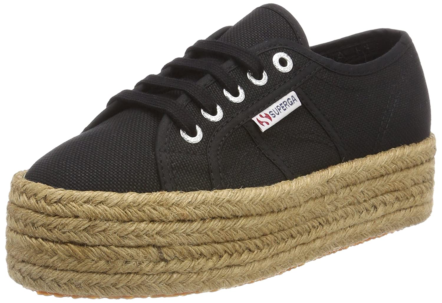 Superga Womens 2790 Cotropew Premium Canvas Trainers B017QYOHHY 6 B(M) US|Black
