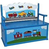 Wildkin Trains, Planes, Trucks Bench Seat w/ Storage