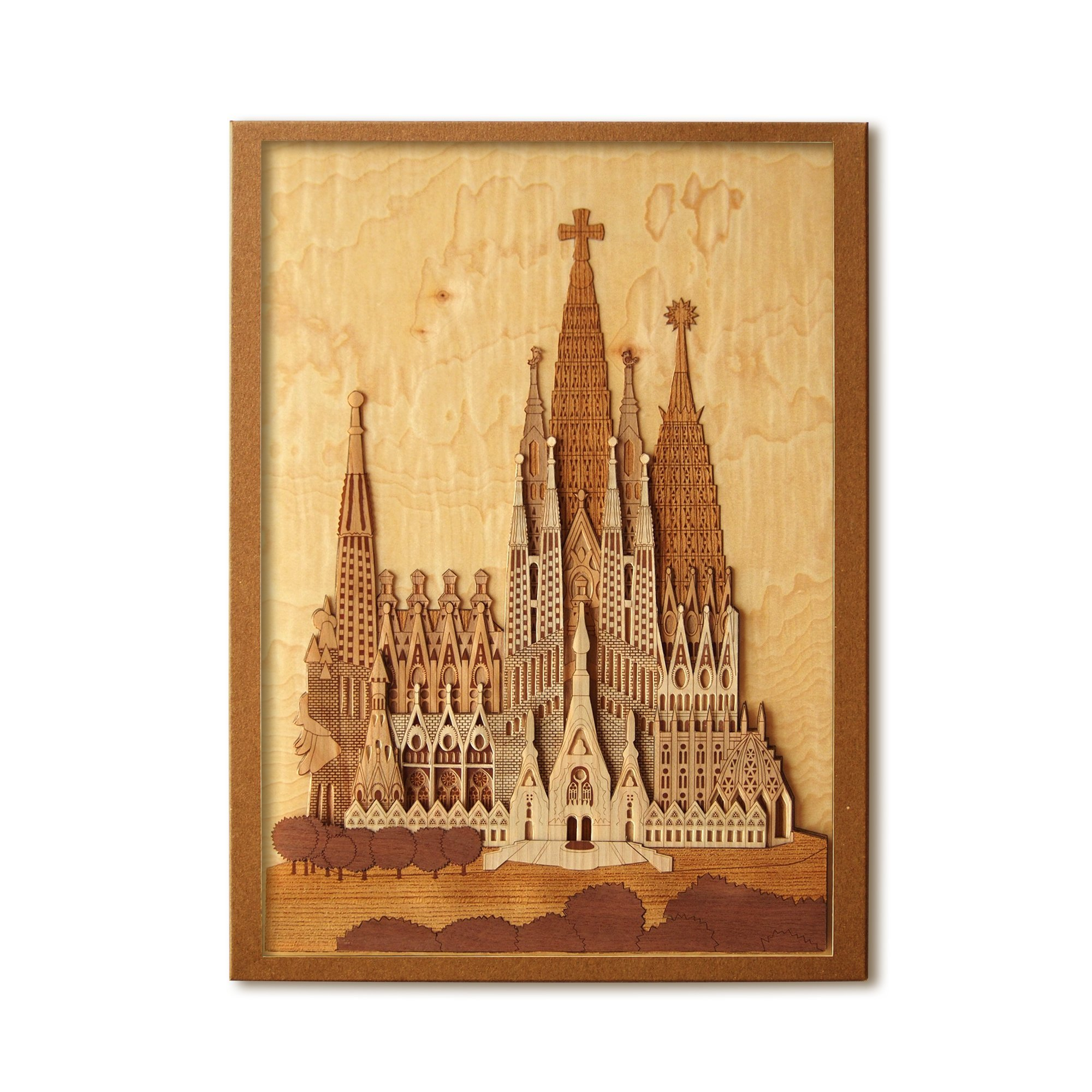 KINOWA Wooden Art Kit Kiharie Sagrada Familia Made in Japan by KINOWA (Image #1)