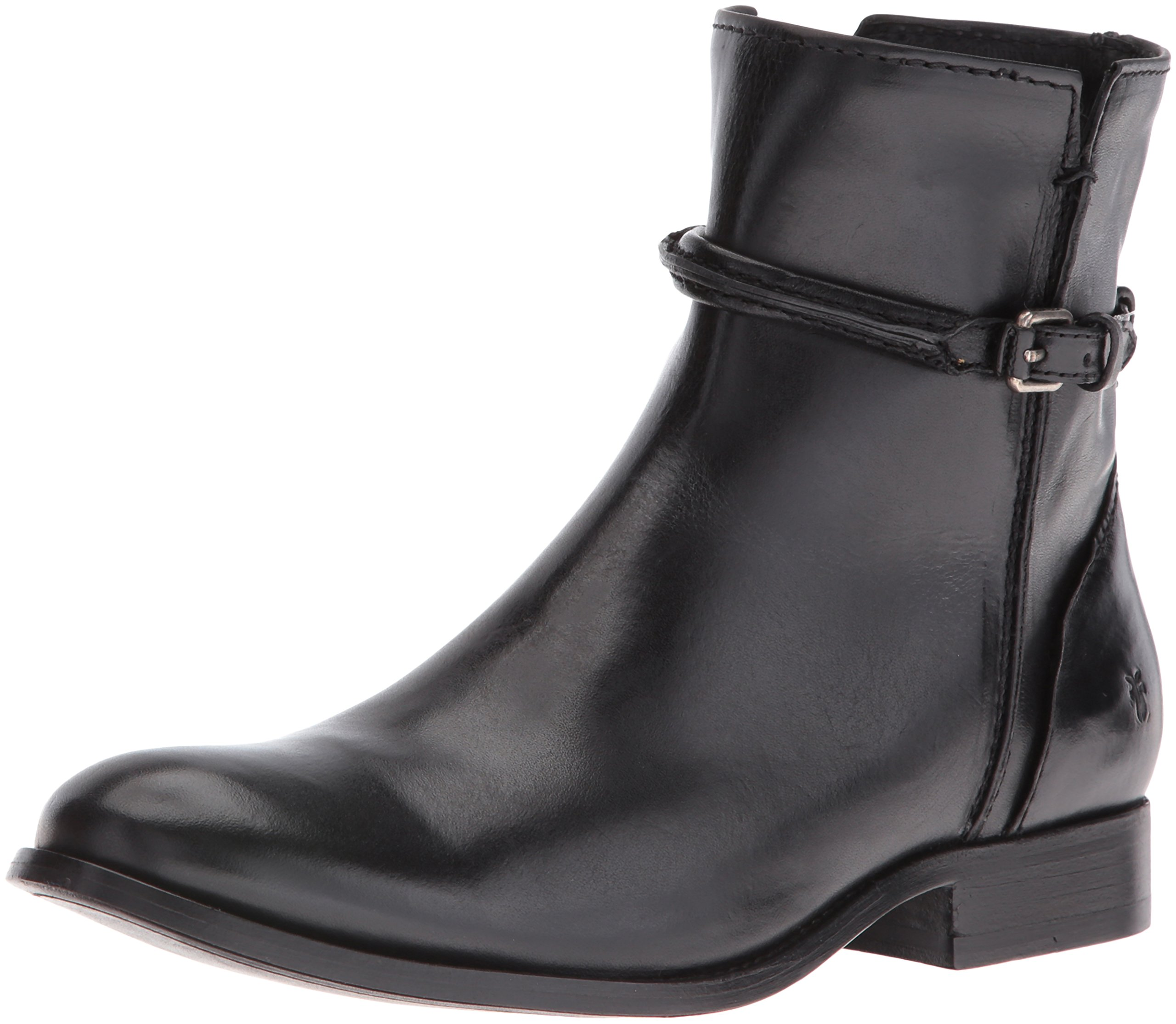 FRYE Women's Melissa Seam Short Boot, Black, 5.5 M US