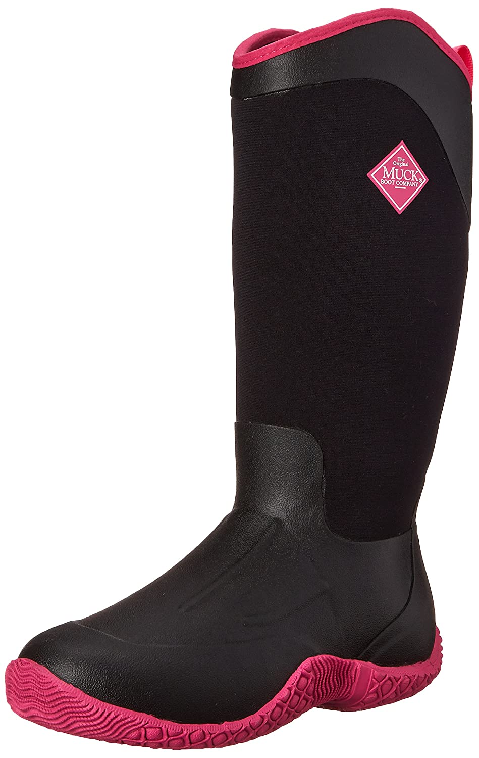 MuckBoots Women's Tack II Mid Equestrian Work Boot B00NV62NXW 9 B(M) US|Black/Hot Pink