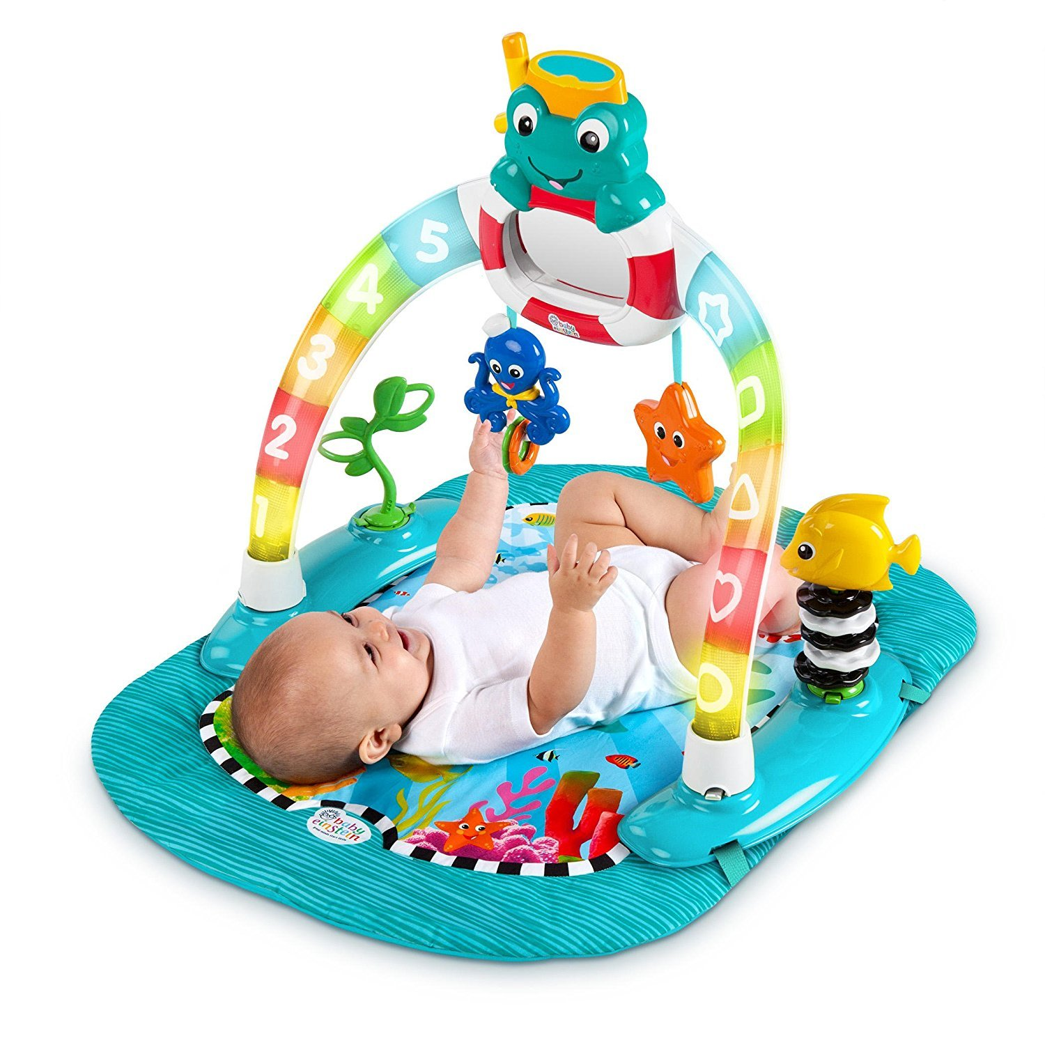 2d07c2bd7 Amazon.com   Baby Einstein 2-in-1 Lights   Sea Activity Gym   Saucer ...