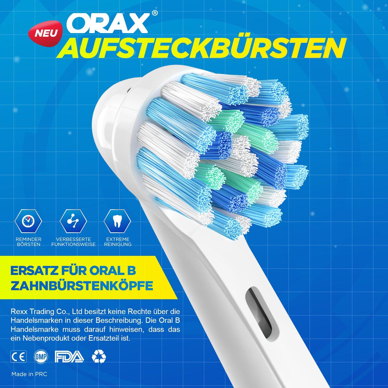 Cross Action - Cabezales de recambio para cepillo compatible con cepillo de dientes eléctrico Oral-B asas. Repuestos para EB50 y otros.