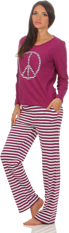 Langer Damen-Pyjama Schlafanzug Nachtw/äsche in verschiedenen Modellen /• warme leichte Baumwolle /• Trends 2019 /• Gr/össe 36//38 bis 48//50 lieferbar