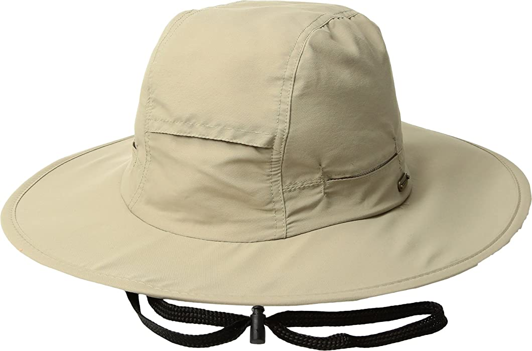 9efdeef20f5 Stetson Men s No Fly Zone Big Brim with Camo Under Brim Khaki MD at Amazon  Men s Clothing store