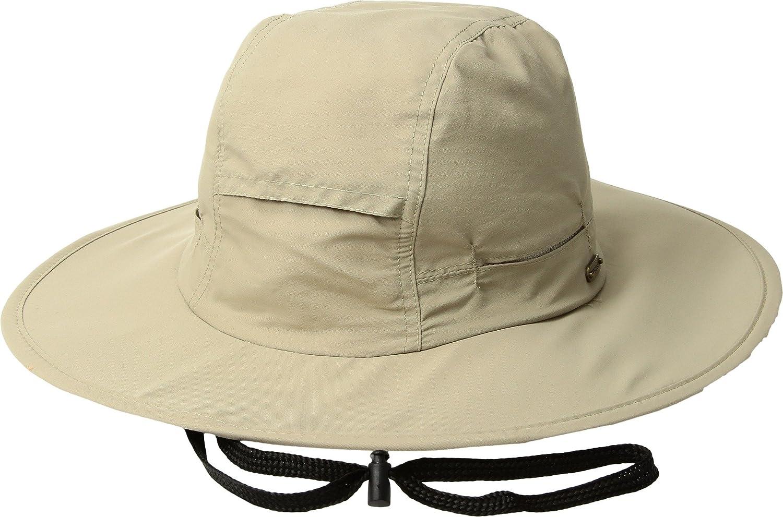 4e91c4bb37c10 Stetson Men s No Fly Zone Big Brim with Camo Under Brim Khaki LG at Amazon  Men s Clothing store