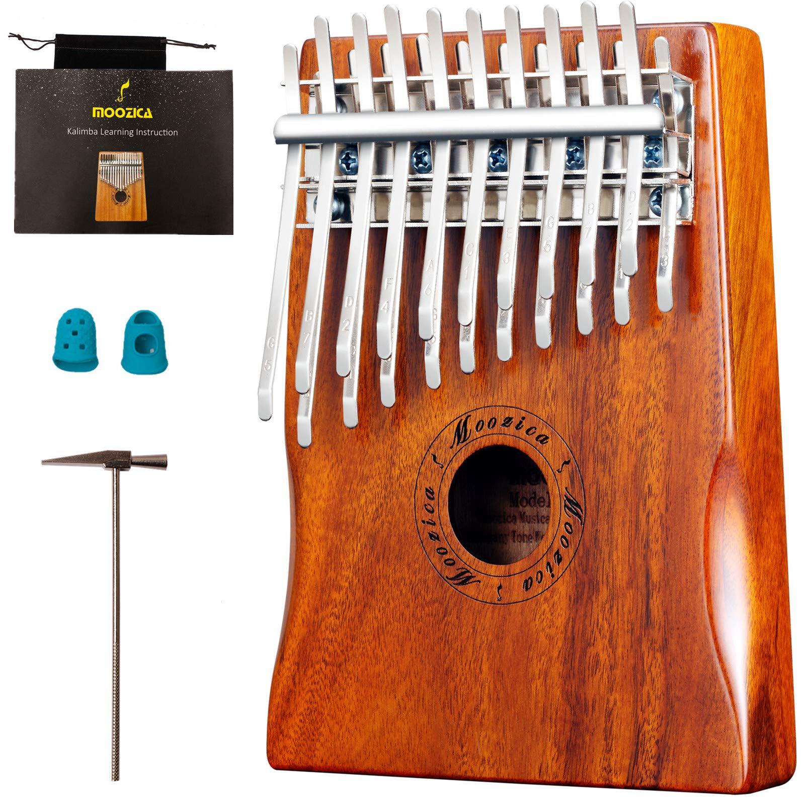 Moozica Solid Koa Wood Kalimba 20 Keys, Double-layer 20 Tines Thumb Piano Marimba With Learning Instruction Book(K20K) by Moozica