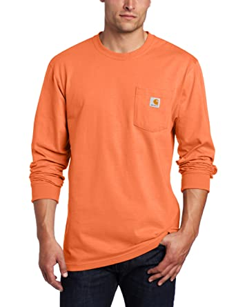 Amazon.com: Carhartt Men's Tall Pocket Long-Sleeve Workwear T ...