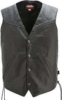 product image for Slanted Pockets Biker Vest Made in USA