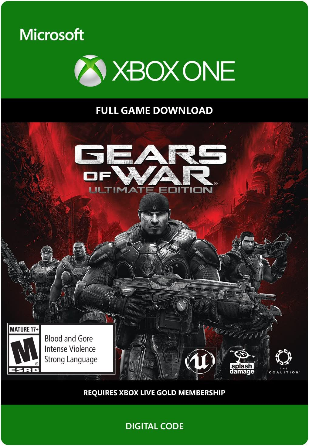f209b3031 Amazon.com: Gears of War: Ultimate Edition Day One Version - Xbox One  Digital Code: Video Games