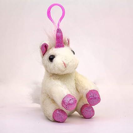 Amazon.com: Llavero de peluche de unicornio de B-KIDS: Toys ...