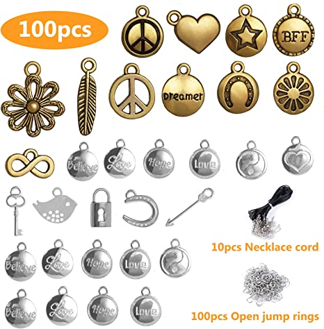 100Pcs DIY Silver Round Bracelet Spacer Beads Women Jewelry Making Wholesale New