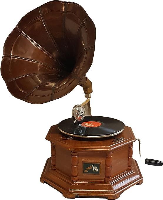 Réplica RCA Victor gramófono Tocadiscos con hexagonal y latón ...
