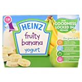 Heinz Fruity Banana Yogurt, 4-36 Months, 4 x 100g Pots