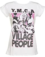 Womens Village People Y M C A Rolled Sleeve Boyfriend T Shirt