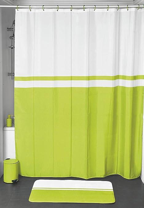 Velvet Shower Curtain Lime Two Tone Premium