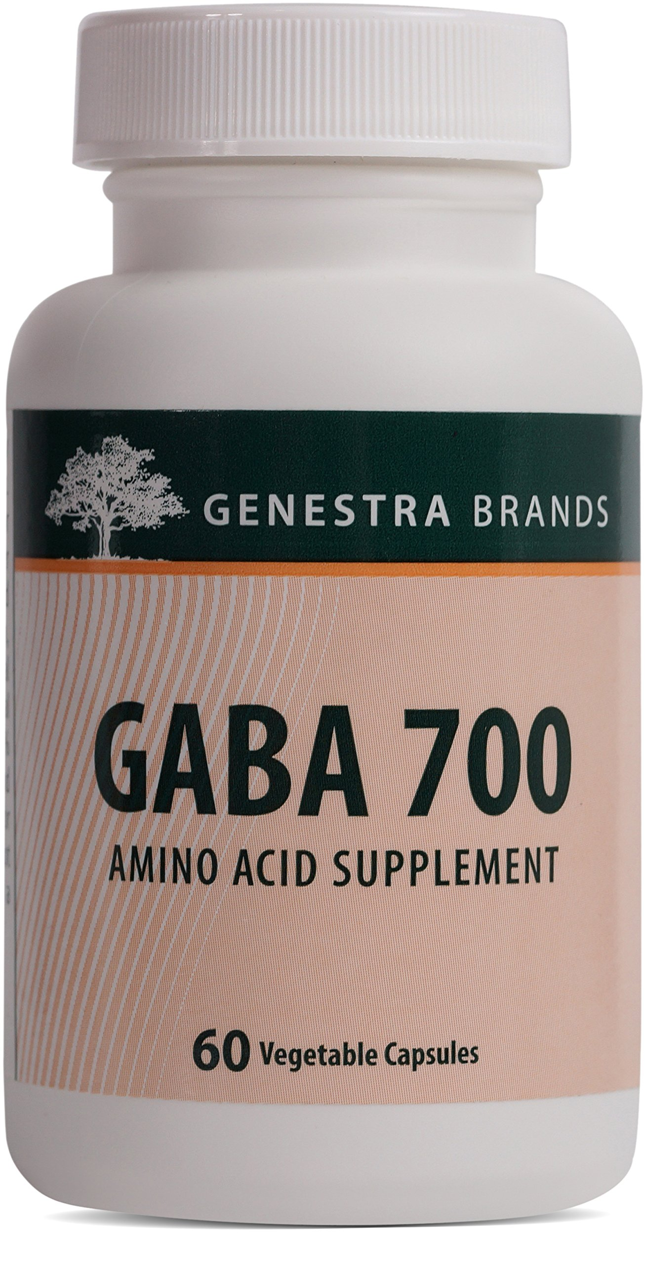 Genestra Brands - GABA 700 - Gamma-Aminobutyric Acid Formulation - 60 Capsules