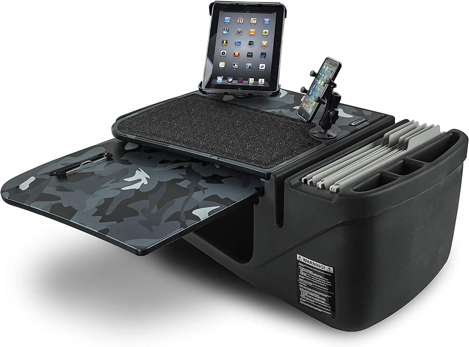 AutoExec GripMaster Car Desk Urban Camouflage with X-Grip Phone Mount