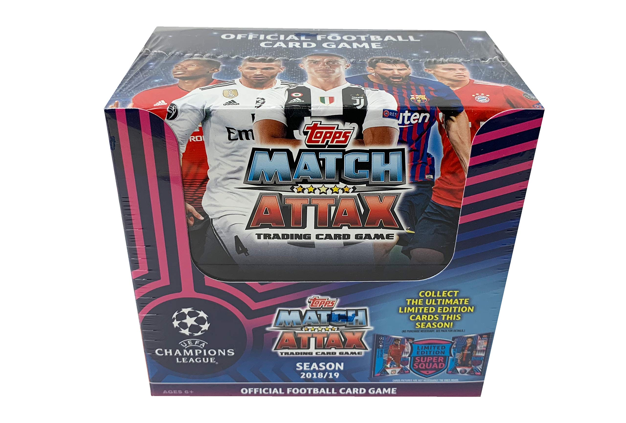 2018/19 Topps UEFA Champions League Topps Match Attax Trading Card Game,Starter Box (50 Packs, 6 Cards Per Pack)