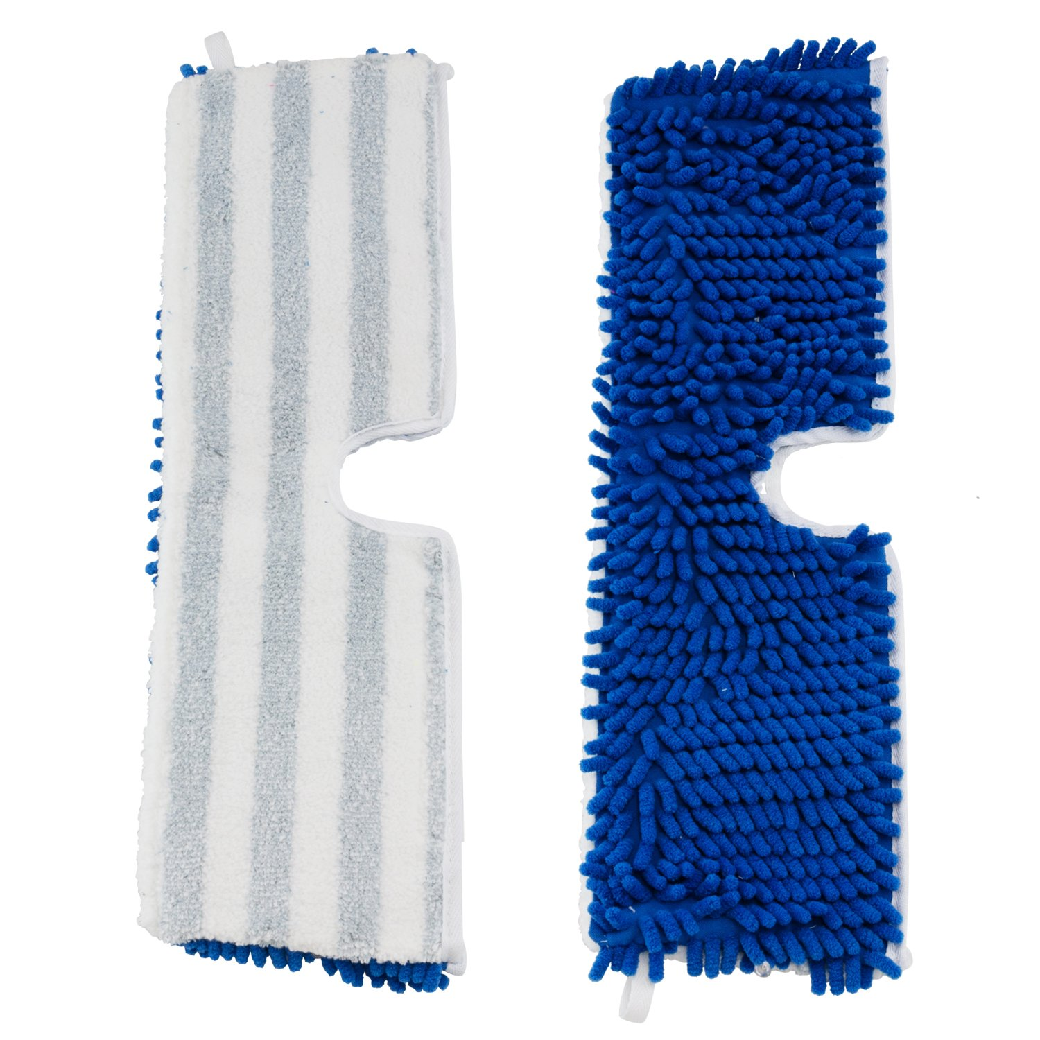 Houseables Flip Mop Refills, Replacement Pads, 3 Pack, 18 inch, Dual-Action Microfiber Head Floor Mops, Dry/Wet, Machine Washable, Double Sided Velcro Flat Sponge, 18'' L X 6'' W, All Surface Cleaning