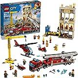 LEGO City - Fire Brigada Distrito Centro, Juguete Divertido y Creativo de Bomberos con Camión, Grúa, Edificio, Moto y…