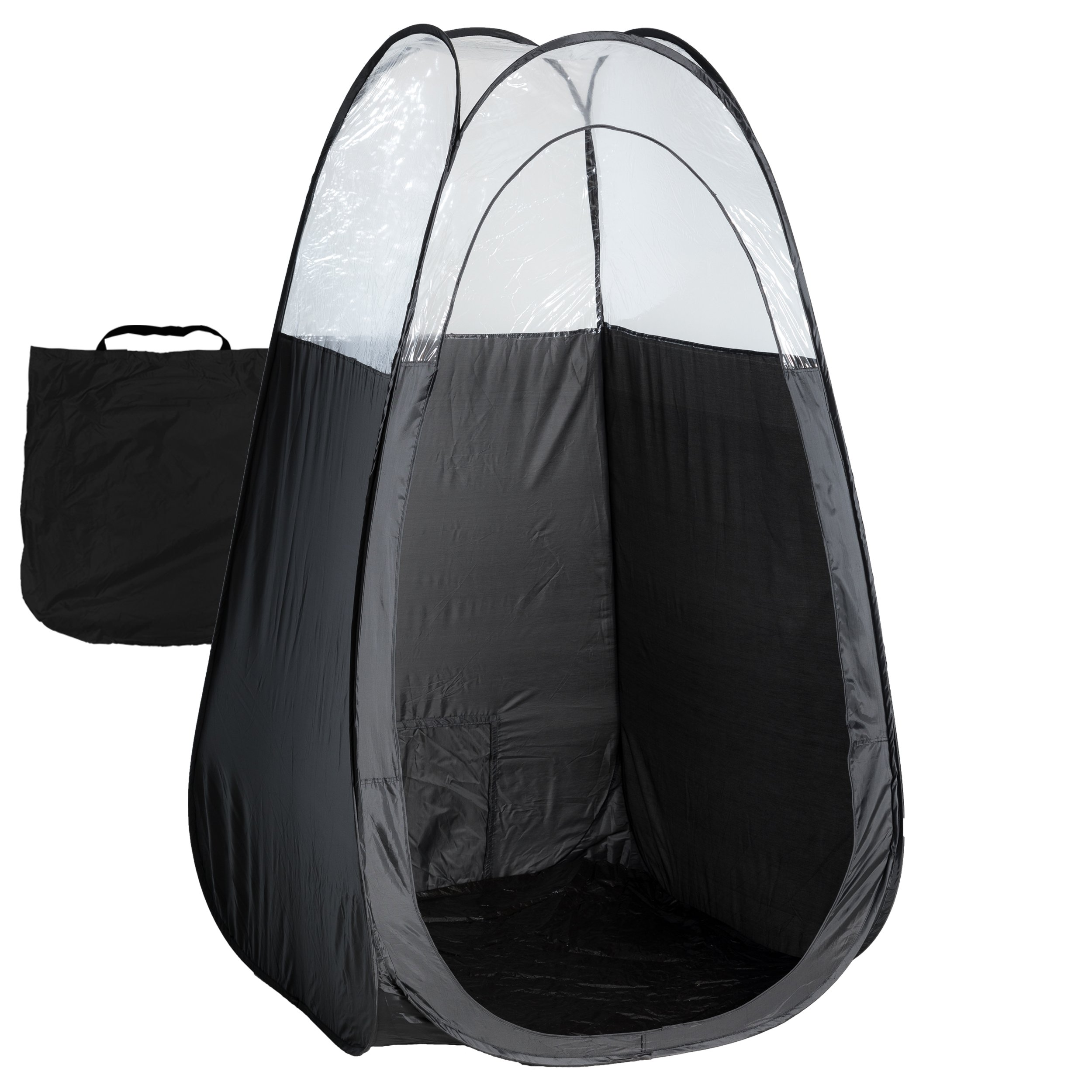 Black Spray Tan Tent with Carry Bag - Large