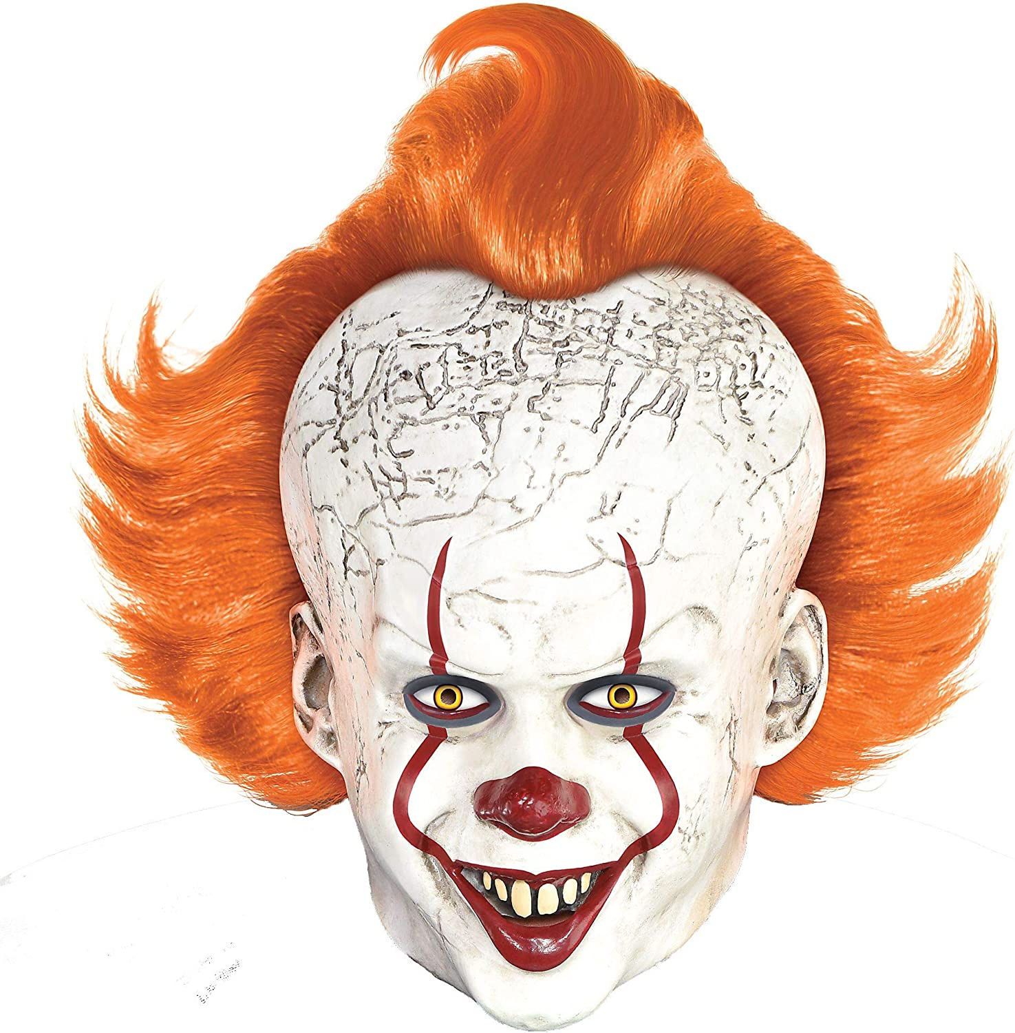 Adult Size Scary Clown Pennywise Inspired Overhead Latex Halloween Costume Mask
