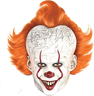 Party City Pennywise Mask Halloween Costume Accessory for Adults, It  Chapter Two, Standard Size
